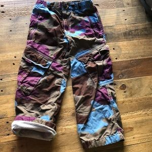 Mini Boden sz 6 camo lined joggers pants sweats